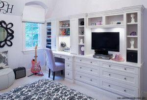 Bedroom built ins desk