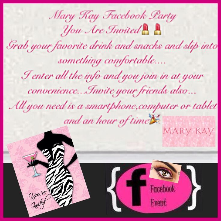 705 best mary kay business images on pinterest | mary kay, Party invitations
