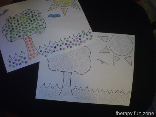 OT Activity of the Week: Q-Tip Painting with Templates   - Pinned by @PediaStaff – Please Visit http://ht.ly/63sNt for all our pediatric therapy pins