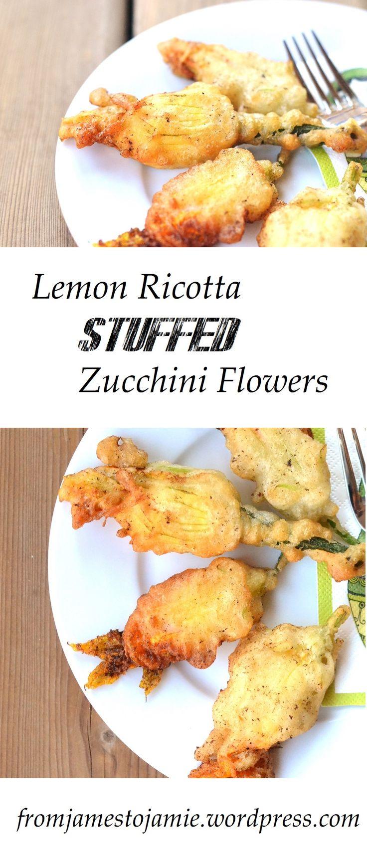 lemon ricotta stuffed zucchini peppers