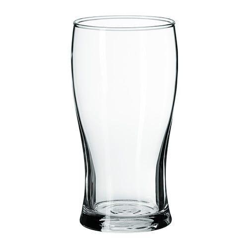 lodr t beer glass clear glass ikea ql verre bi re. Black Bedroom Furniture Sets. Home Design Ideas