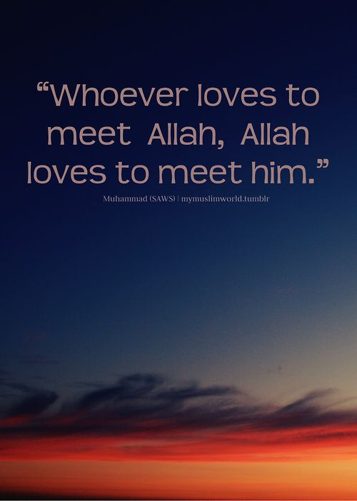 Very important for a Muslim to have a good opinion of Allah and then he likes to meet his Rabb and his Rabb likes to meet him.