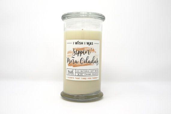 Piña Colada vela, vela perfumada de coco, fragancia piña, vela de cera de soya, velas perfumadas, perfumes caseros, velas frutales