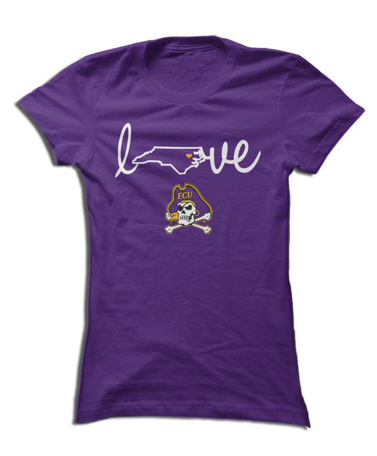 ECU Pirates - Love With State Outline