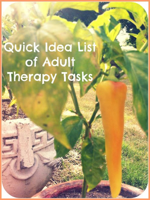Quick Idea List of Adult Speech Therapy Tasks