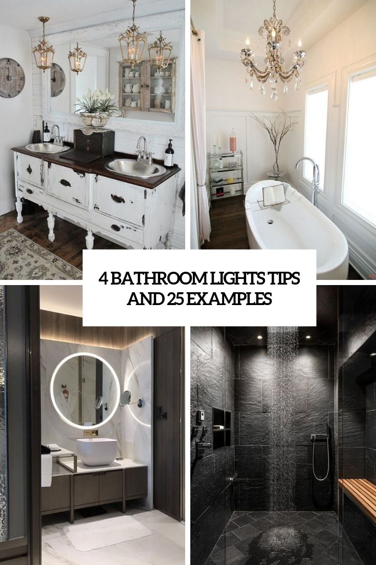 4 Bathroom Lights Tips And 25 Examples Cover Digsdigs Contemporary Wall Lamp Recessed Can Lights Round Mirror Bathroom