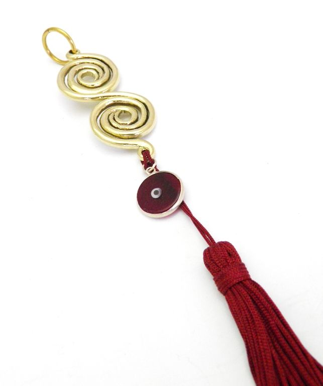 Spirals is another way to see in 2018 charm! We were inspired by the desings of spirals depicted almost on all aspects of every day life of the ancient Greeks. Walls, floors, decorative items, utensils, jewelry for 3000 years now... bear spirals!  It symbolizes the creation of life and is a symbol of Vital Force. It also symbolizes Birth, Continuity, Wandering, Dance, Existence and the Return in the Center. Which clearly means the Recovering of Stength!