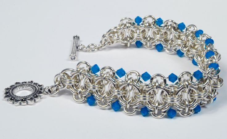 Beaded Celtic Dawn chainmaille pattern