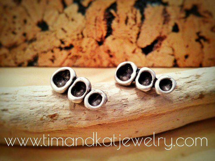 Earrings silver plated Tim & Kat