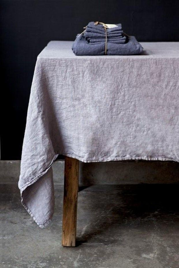 Linen tablecloth, the more it's used the better it gets