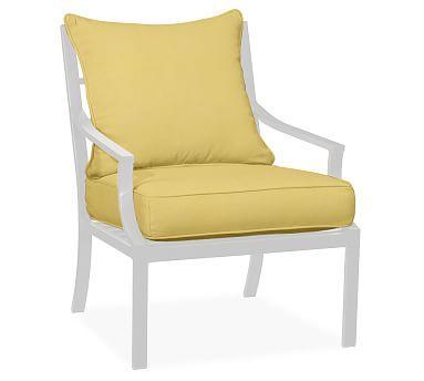 Faraday/Riviera Armchair Replacement Cushion Set, Sunbrella(R) Buttercup Part 95