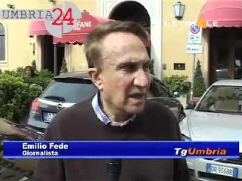 Emilio Fede a Perugia: dalla valigetta al caso Bossi. La videointervista