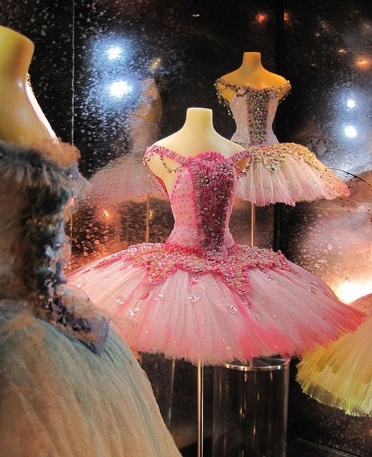 """Little Costume Shop"" by Malcolm Bull. From a display cabinet in the foyer of Covent Garden, miniature ballet costumes for sale, beautifully hand-made by costume designer Vin Burnham."