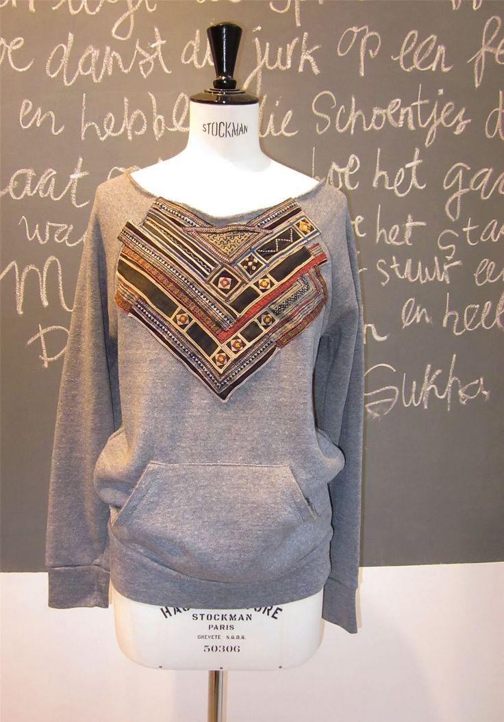 Chillimint Inspiration   DIY, sweatshirt rehab