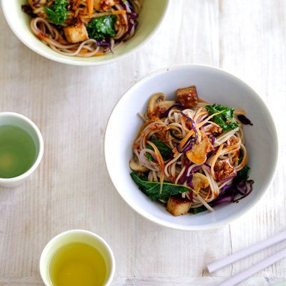 Kale and Soba Noodles Recipe. For the full recipe and more, click the picture or visit RedOnline.co.uk
