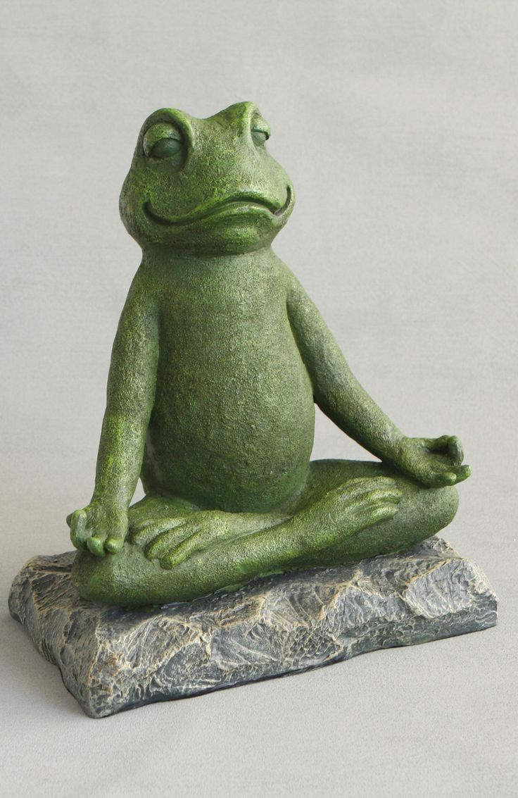 Meditating Garden Yoga Frog Statue By Buddha Groove Frog Statues Animal Statues Frog