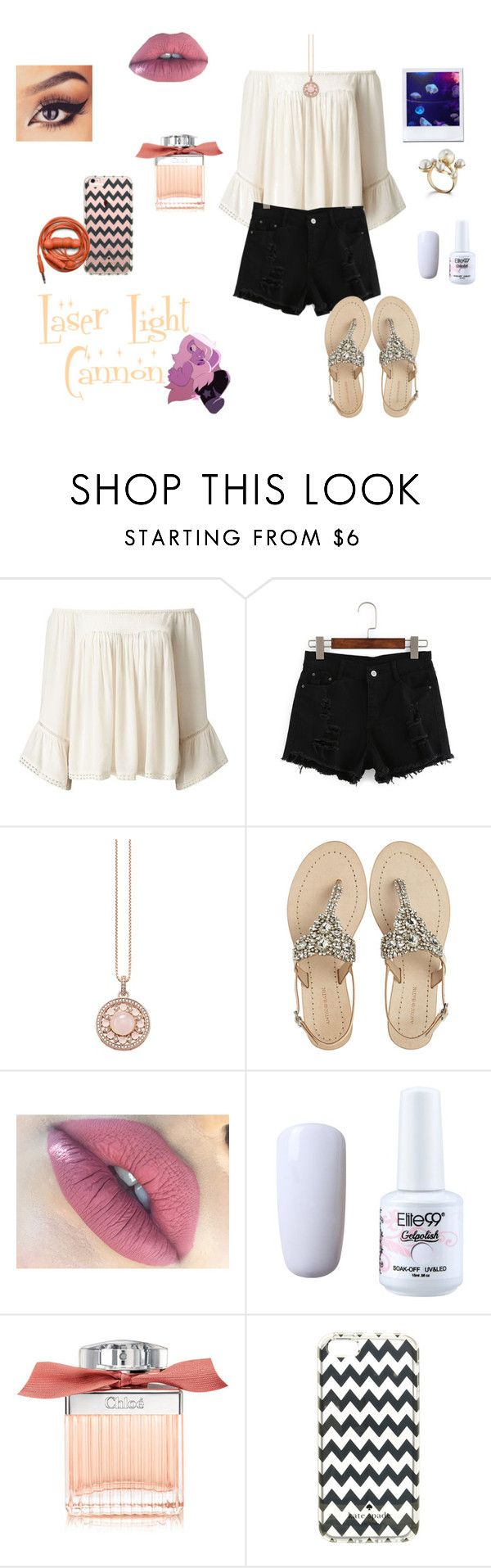 """Steven Universe Episode 2: Laser Light Cannon"" by gravityfallsgirl33 ❤ liked on Polyvore featuring Miss Selfridge, Thomas Sabo, Antik Batik, Chloé, Kate Spade and Urbanears"