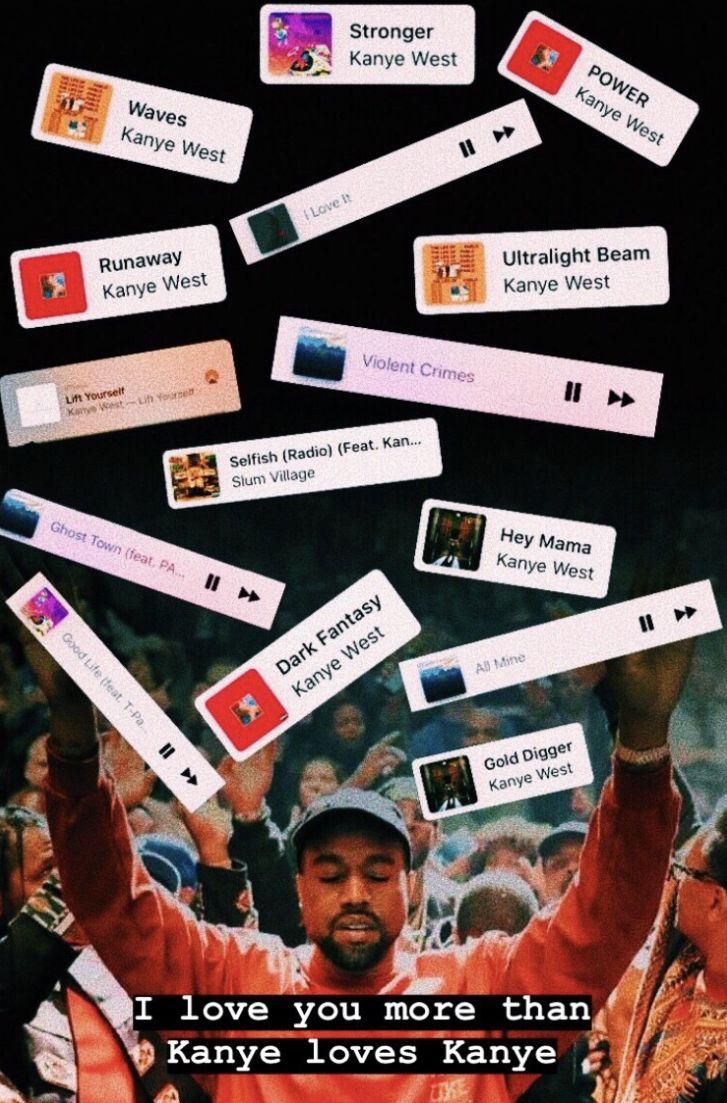 Trinshaylyn Appreciation Post Music Mood Kanye West Power