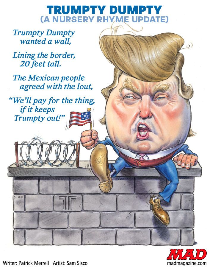 Big-Mouth Racist Humpty Trumpty
