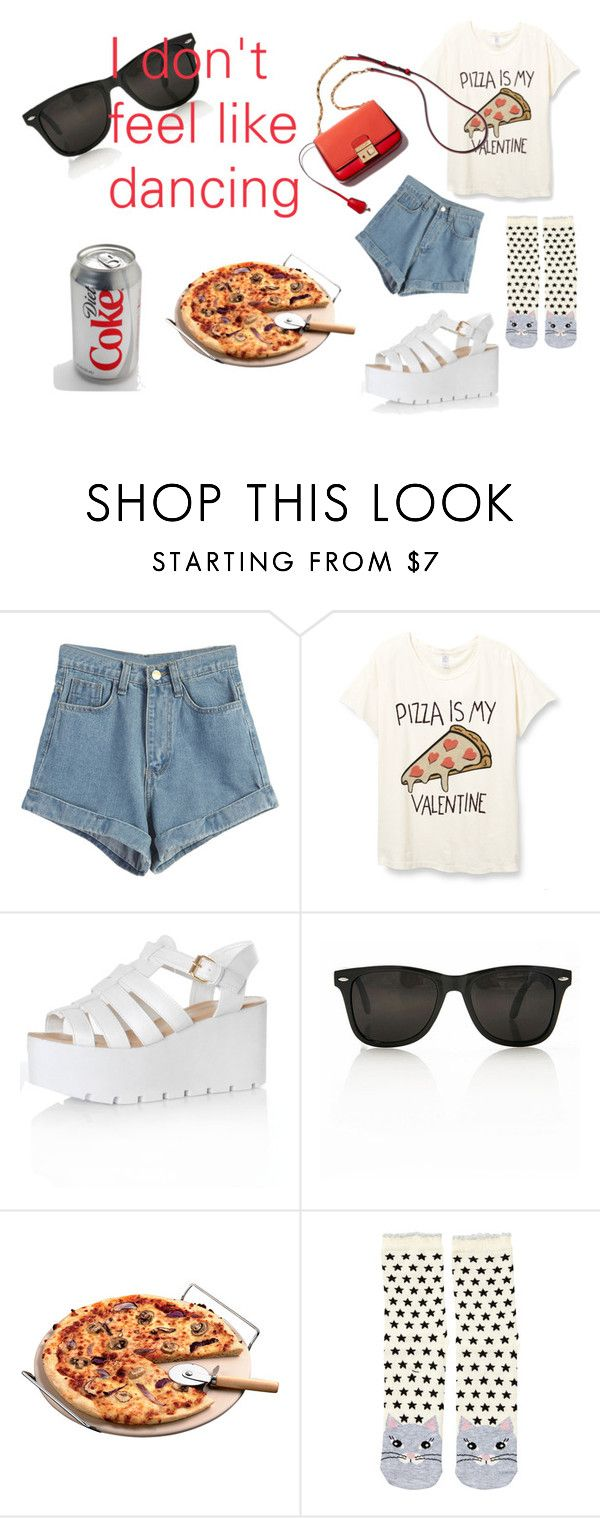 set#pizza by slounis on Polyvore featuring moda, WithChic, Accessorize, Glamorous, women's clothing, women's fashion, women, female, woman and misses