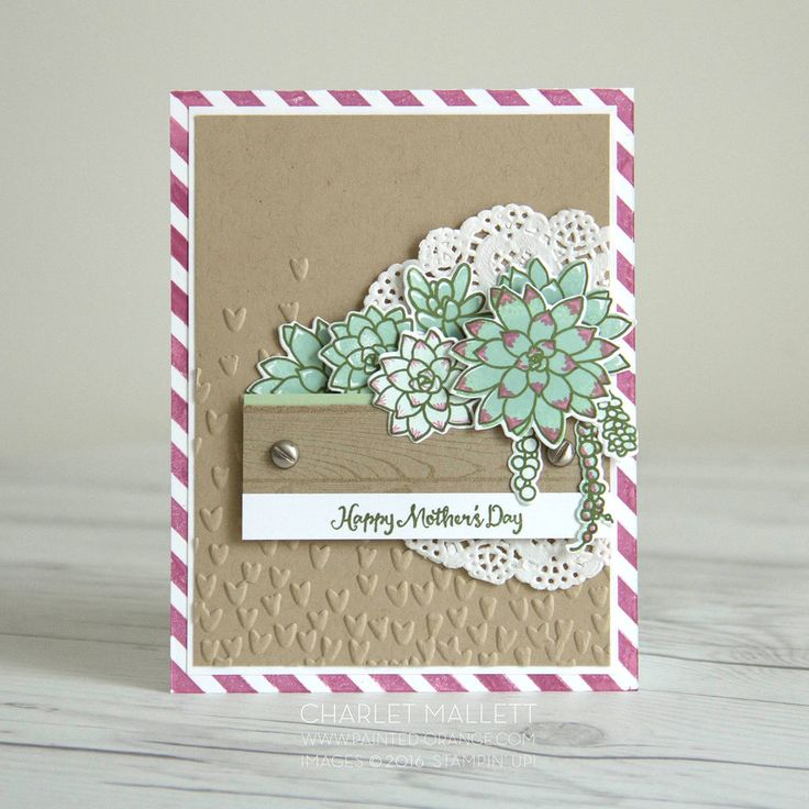 Image result for stampin up birthday succulents