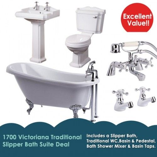 1700 Traditional Victoriana Slipper Bath Suite Deal