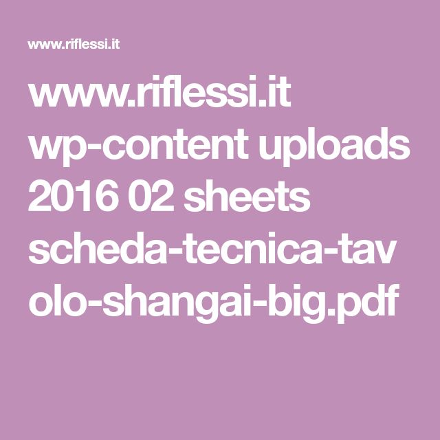 www.riflessi.it wp-content uploads 2016 02 sheets scheda-tecnica-tavolo-shangai-big.pdf
