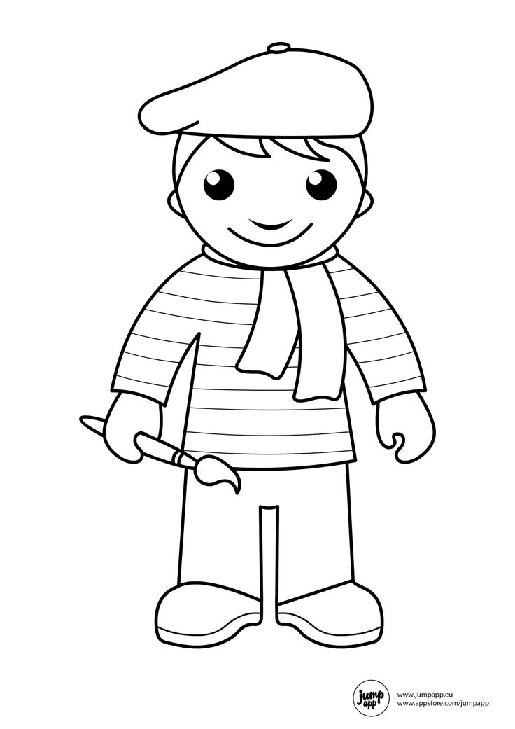 It's just an image of Persnickety community helpers coloring page