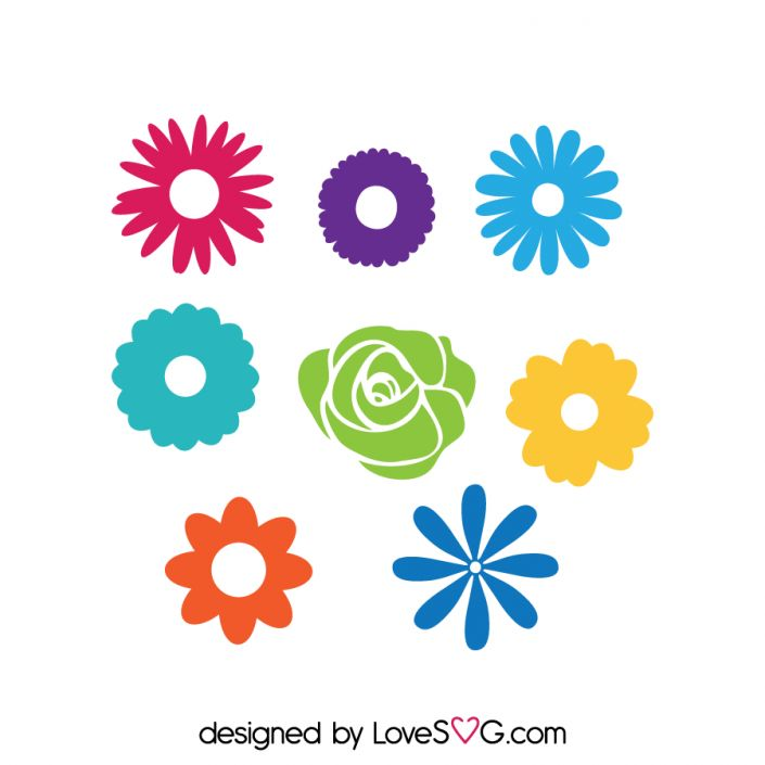 *** FREE SVG CUT FILE for Cricut, Silhouette and more *** Flowers Set