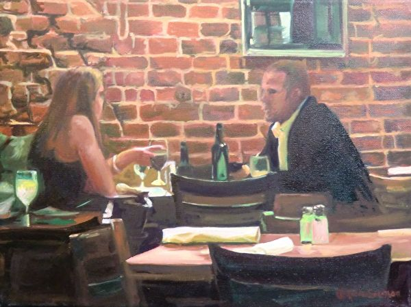 An Evening Out by Katrina MethotSwanson  ~ 16 x 12