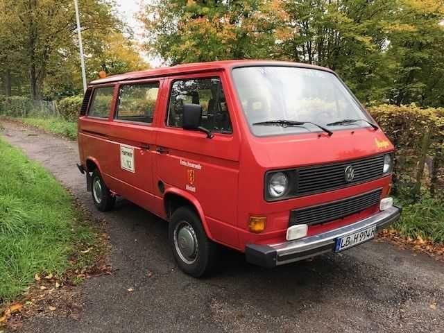 VW Bus T2 T3 Bulli Caravelle Feuerwehr Behördenfahrzeug H-Kennzeichen TÜV Neu