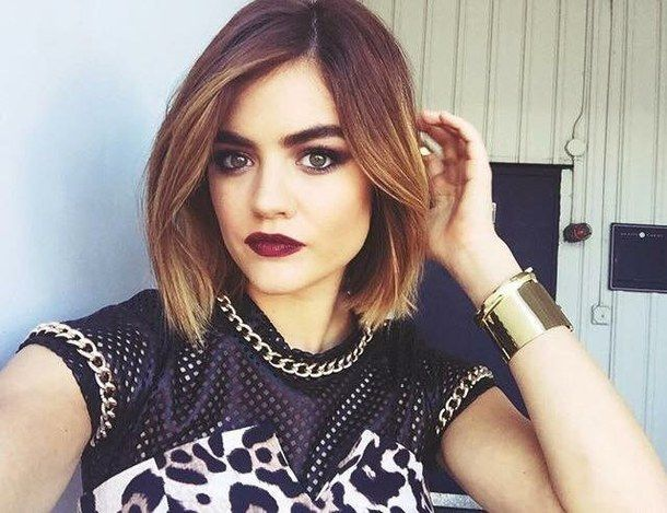 aria, aria montgomery, fashion, lucy hale, make up, ombre, photoshoot, pll, pretty, selfie