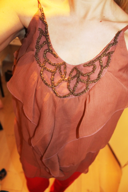Top worn by Sarah Louise