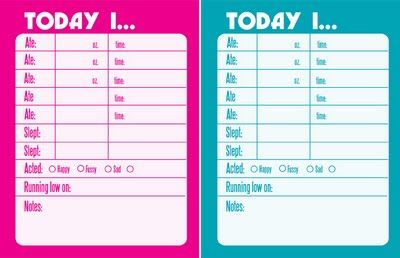 Free Printable -- Notes from the Babysitter
