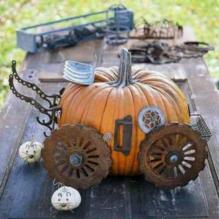 Could do this with a fake pumpkin to use in a fairy garden ...