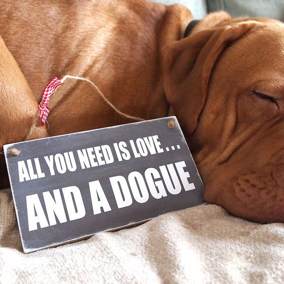 Handmade Sign Gift Dog Lover for owner and lover of a Dogue De Bordeaux Dog…