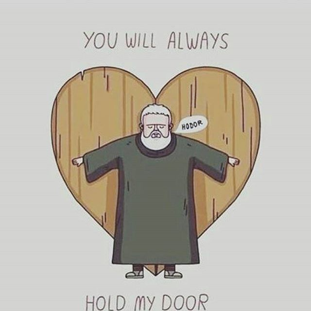 Not all heroes hold weapons, some just hold doors
