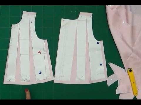 Alta Costura para NIÑOS clase # 5 Cortando el vestido de niña (forro) - YouTube