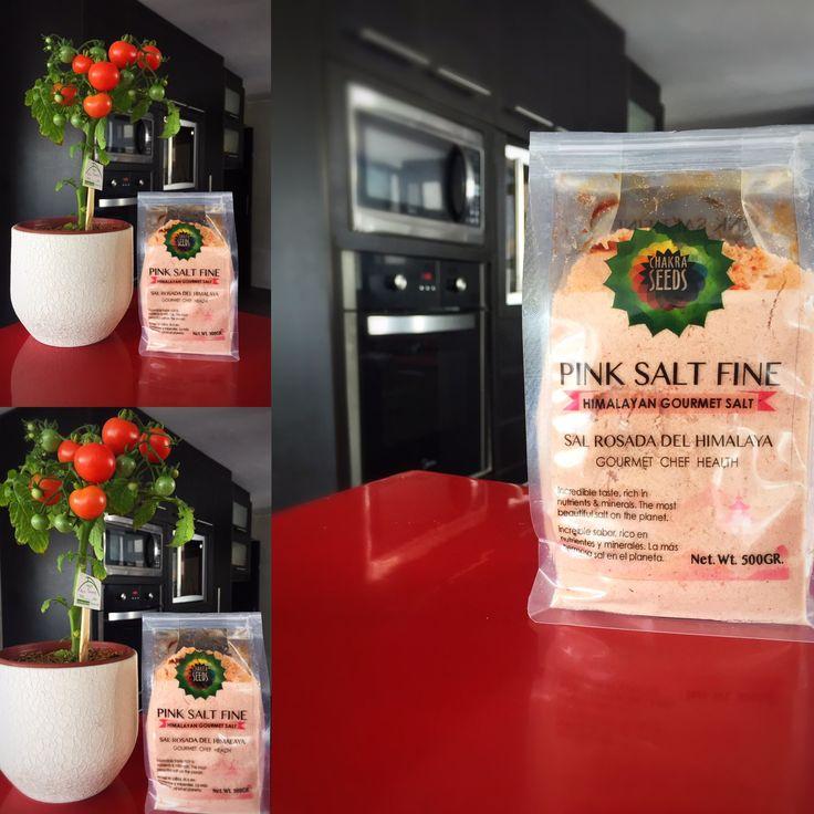 Sal rosada del Himalaya nutritiva y saludable