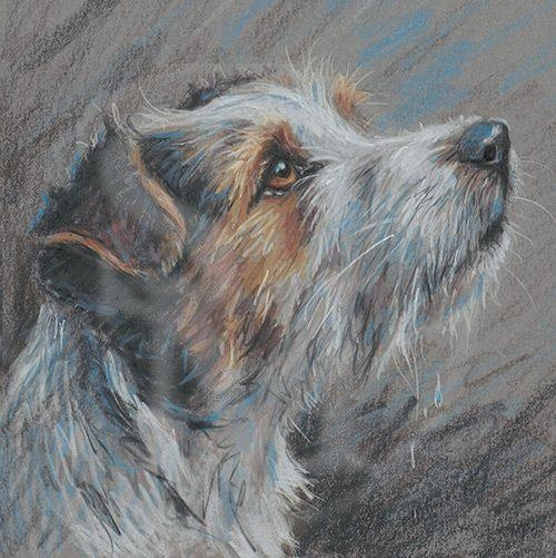 """""""Jack Russel Terrier"""" by Paul Doyle, well-known & prolific English canine artist"""