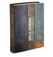 Biblia Sagrada Trilíngue Espanhol/Inglês/Português (Capa estampada)