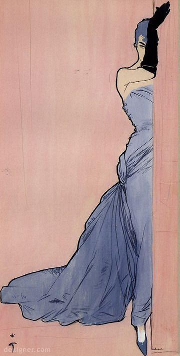 Rene Gruau Fashion Sketches 01