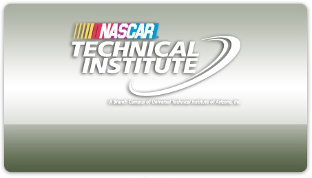 NASCAR Technical Institute. They came for career day today! Brought a really nice car too!