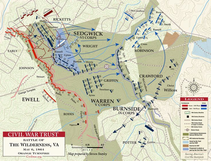 Civil War Battle Maps | Battle of the Wilderness - Orange Turnpike - May 6, 1864
