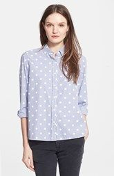 The Great 'The Swing' Polka Dot Oxford Shirt