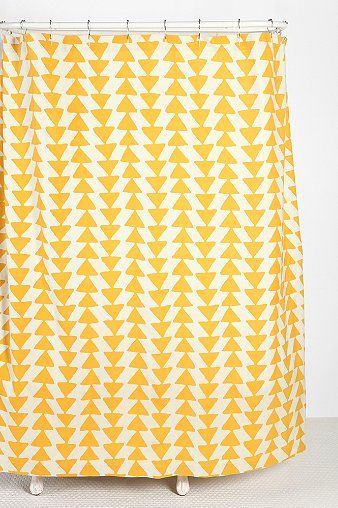 Triangle-Chain Shower Curtain