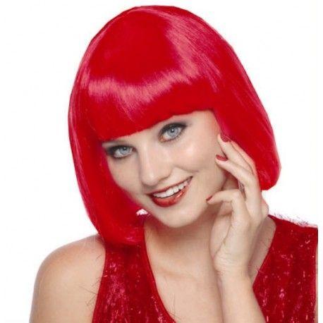 Perruque Rouge Courte Sexy Perruque de deguisement