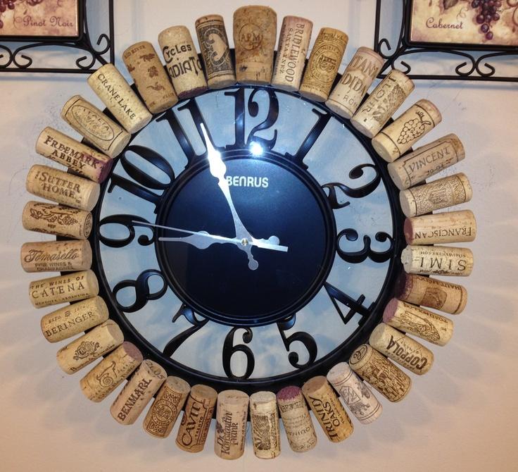 Un reloj de #corcho #DIY