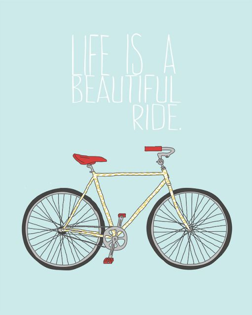 poster vintage para imprimir grátis - life is a beautiful ride - bicycle