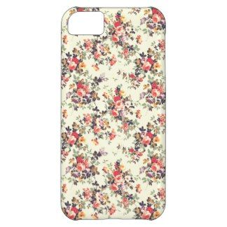Pink Red Vintage Modern Girly Floral Pattern Cover For iPhone 5C